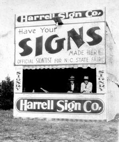 "What a cool old photo of ""signtists"" setting up shop."