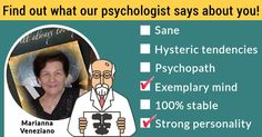 Find out what our psychologist says about you!