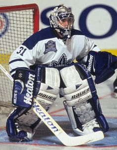 My goalie hero, Curtis Joseph Nhl Hockey Teams, Hockey Rules, Hockey Goalie, Hockey Players, Ice Hockey, Hockey Room, Hockey Baby, Maple Leafs Hockey, Hockey Pictures