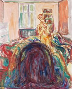 Edvard Munch, The Artist's Retina: Optical Illusion from the Eye Disease, 1930, watercolour and pencil on paper, 49.7 x 47.1 cm, The Munch Museum, Oslo. Source Edvard Munch, Disturbed Vision, 1930,...