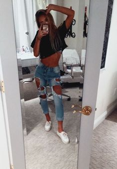 Outfits - 48 Catchy Summer Outfits Ideas To Wear Everyday gliteratious com Cute Casual Outfits, Cute Summer Outfits, Fall Outfits, Cute Everyday Outfits, Summer Fashion Outfits, Summer Wear, Casual Summer, Outfit Ideas For Teen Girls, Winter Outfits For Teen Girls Cold