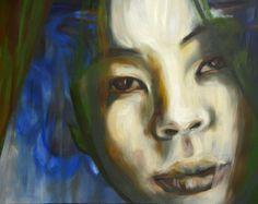 Donna abitata Olio su Tela 110x90 Painting, Art, Art Background, Painting Art, Kunst, Paintings, Performing Arts, Painted Canvas, Drawings