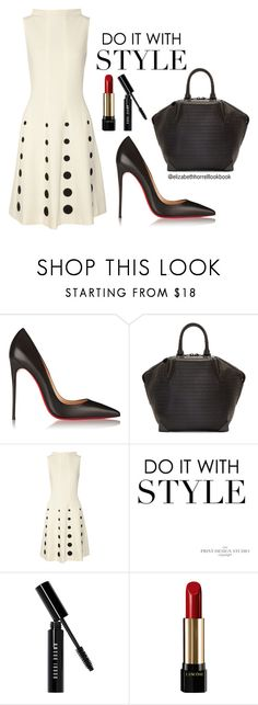 """""""Liz"""" by elizabethhorrell ❤ liked on Polyvore featuring Christian Louboutin, Alexander Wang, Moschino, Bobbi Brown Cosmetics and Lancôme"""