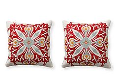 Red Provence Pillows