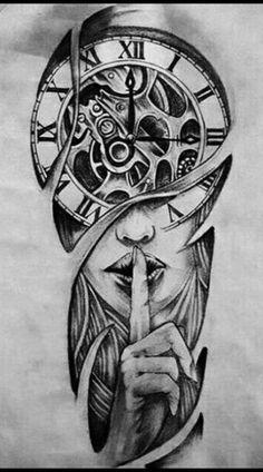 Half Sleeve Tattoos Drawings, Quarter Sleeve Tattoos, Half Sleeve Tattoos Designs, Best Sleeve Tattoos, Tattoo Designs Men, Realistic Tattoo Sleeve, Clock Tattoo Design, Feather Tattoo Design, Tattoo Design Drawings