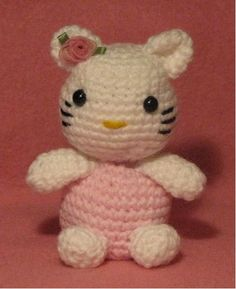 Make a tiny crochet hello kitty with this amigurumi crochet pattern designed by Armina Parnagian. A group of four crochet kitties in coordinating baby soft yarns is just about the cutest thing you can imagine.