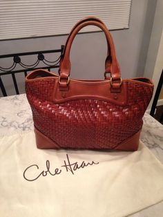 Cole Haan Genevieve Woven Leather Tote Handbag Saddle Brown Satchel. Save 65% on the Cole Haan Genevieve Woven Leather Tote Handbag Saddle Brown Satchel! This satchel is a top 10 member favorite on Tradesy. See how much you can save GORGEOUS!!! SALE!!!