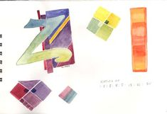 """""""Decorated Letters P2"""" samples Peter Thornton Class May 4 & 5, 2009"""