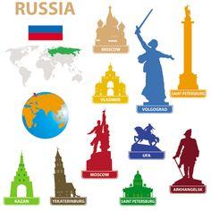 Siluetas vectorizadas de 59 monumentos del mundo - Puerto Pixel   Recursos de Diseño