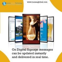 On #DigitalSignage #messages can be updated #instantly and #delivered in real time. #TucanaGlobalTechnology #Manufacturer #HongKong