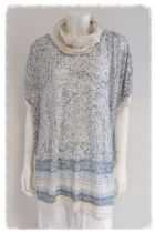 Casual lagenlook layering tunic & scarf