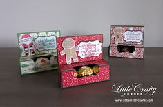 Cut little box created using the Cookie Cutter Christmas Stamp Set and Punch Bundle by Stampin' Up!