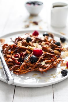 blueberry sweet potato waffles.