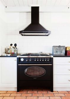 black appliances - kind of a nice change vs stainless steel. i've also seen copper (or polished brass?) finished appliances which were striking!