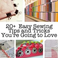 20+ Easy Sewing Tips and Tricks Youre Going to Love howdoesshe.com