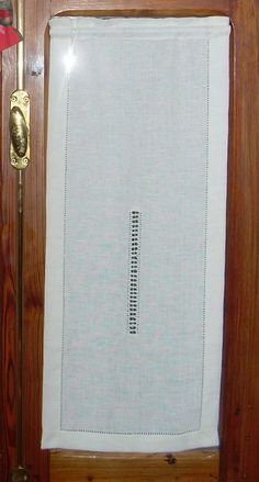 Hemstitched curtains in linen , Drawn-thread-embroidery curtains, Hemstitched linen curtain,