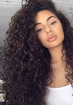 Makeup Dark Hair Inspiration New Ideas Long Curly Hair, Big Hair, Curly Hair Styles, Natural Hair Styles, Curly Girl, Natural Curls, Curly Hair Sew In, Brown Curly Hair, Deep Curly