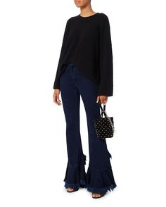 Marques Almeida Frill Flared Jean - INTERMIX®
