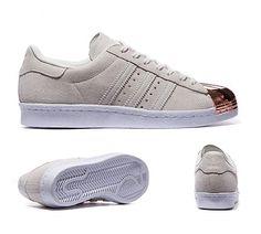 adidas Originals Womens Superstar 80's Metal Toe Trainer | Off White | Footasylum