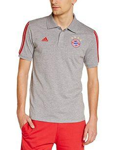adidas Herren Poloshirt FC Bayern Polo, Core Heather Fcb True Red, M, M36360