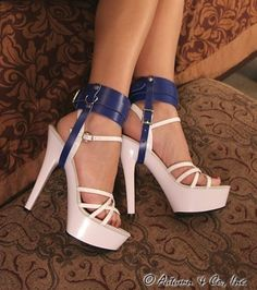 4760A High Heel Trainer Blue Leather Shoe Bondage Cuffs These are simply a lovely pair of shoe cuffs to keep those lovely shoes or boots on your slave's feet! http://www.sub-shop.com/collections/wrist-and-ankle-cuffs-1-2-wide/products/4760a-high-heel-trainer-blue-leather-shoe-bondage-cuffs