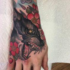Fierce wolf tattoo