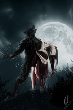 Werewolf Art by Dan Dos Santos Dark Fantasy Art, Dark Art, Fantasy Creatures, Mythical Creatures, Werewolf Art, Arte Obscura, Vampires And Werewolves, Wolf Love, Big Bad Wolf