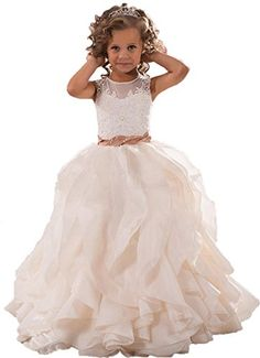 DressHome Flowers Girls Dresses with Jewel Neck Birthday Gowns Communion (8, Light Champagne) DressHome http://www.amazon.com/dp/B019ZCLMPU/ref=cm_sw_r_pi_dp_UfT8wb03KG9RW