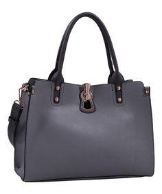 Look at this #zulilyfind! Tops Handbags Gray Convertible Satchel by Tops Handbags #zulilyfinds