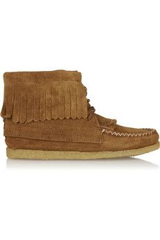 Finds + Eastland Aztec 1955 fringed suede ankle boots | NET-A-PORTER