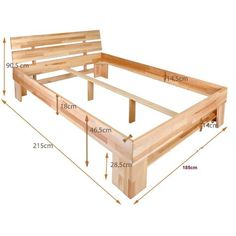 Diy Bed Frame Plans, Bed Frame With Storage, Bunk Bed Plans, Wood Bed Design, Bed Frame Design, Outdoor Furniture Plans, Diy Pallet Furniture, Diy Modern Bed, Timber Bed Frames