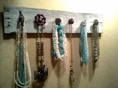 Pallet necklace/ accessory holder...necklace by ShabbyWorks, $44.00