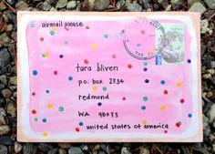 fairy biscuit envelope