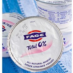 Fage Greek yogurt... it's so yummy and they have it at Aldi for cheaper than most other Greek yogurts! :)