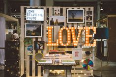 Sign ideas - I already have a light up sign that I can fit JUST FOR LOVE PHOTO on... another option instead of getting a sign made?