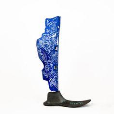 Cobalt with Blue Details Robot Design, Design Art, Robot Leg, Prosthetic Leg, Half Mask, Drawing Reference, Body Art, Tattoo Designs, Nye