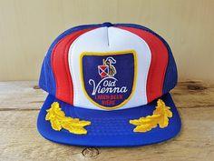 c827d91d46264 OLD VIENNA Lager Beer Bière Original Vintage 80s Hat Blue Mesh 80s Hats