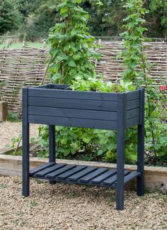 The stylish Latchmere Raised Planter can sit in any sized garden and house plants, pots and accessories Raised Planter Boxes, Garden Planter Boxes, Herb Planters, Metal Planters, Diy Wooden Planters, Box Garden, Pine Garden, Planter Table, Plant Pots