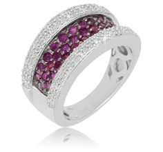 8/22/2012 Pick Your Price Jewelry Collection  $45.00  + FREE SHIPPING ¾ Carat Ruby and 1/3 Carat Diamond Sterling Silver Ring