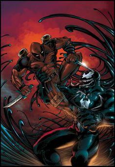 Deadpool vs Venom by ~smekitup on deviantART