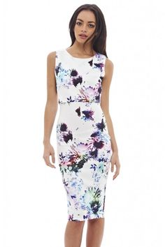 AX Paris Womens Floral Printed Midi Dress Glamorous Stylish Fashion