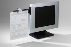 Monitor Mount Paper Document Holder Swing Arm Attach Clip Office Note. Holds up to 30 sheets. Compatible with all CRT monitors and most flat panel monitors. Dimensions: 11.5 x 6.2 x 3 inches ; 3.8 ounces. Note:For return policy in non product problem,customer has to response for shipping fee and 15% restore fee,And please return within 14 days.