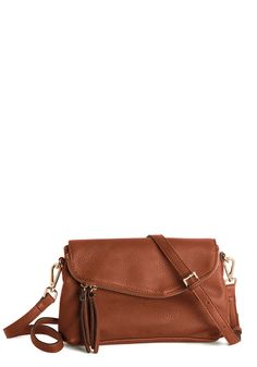 Good Fold Days Bag in Brown. A day with this acorn-brown fold-over bag by your side is always grand! #brown #modcloth