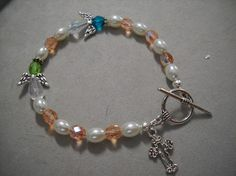 Peaches and Pearls by Beads4You2008 on Etsy,