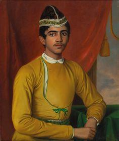 Benjamin Hudson (c. Portrait of Bonsha Gopal Nandi, c. oil on canvas, x cm. Fashion History, Fashion Art, Art Indien, Fisher, Indian Jackets, Plus Tv, Vintage India, Art Moderne, Expo