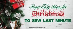 Easy Christmas Gifts DIY for friends and family you can totally make Last Mintue. These ideas are simple and creative. The best thing? They are super fast to sew! Easy Diy Christmas Gifts, Simple Christmas, Easy Gifts, Christmas Ideas, Diy Gifts For Friends, Gifts For Family, Easy Knitting, Knitting Ideas, Valentines Diy