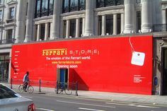 Pyramid Visuals is a supplier for Hoarding, scaffold wraps, billboards, Exhibition Graphics, and Theater and movie backdrops as well as other services Pos Display, Display Ideas, Hoarding Design, Ferrari World, Billboard Design, Scaffolding, Store Fronts, Surrey, Advertising