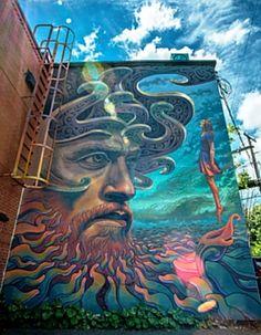 Graffiti Street Art - September 08 2018 at Murals Street Art, 3d Street Art, Street Art Graffiti, Graffiti Wall Art, Urban Street Art, Amazing Street Art, Mural Art, Fantastic Art, Street Artists
