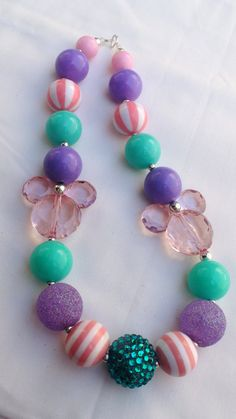 Disney Princess Minnie Mouse Inspired Girls Chunky Necklace by AlternativeScraps, $15.00