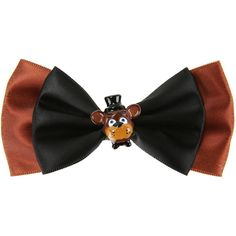 Hot Topic Five Nights At Freddy's Freddy Cosplay Hair Bow ($4.79) ❤ liked on Polyvore featuring multi